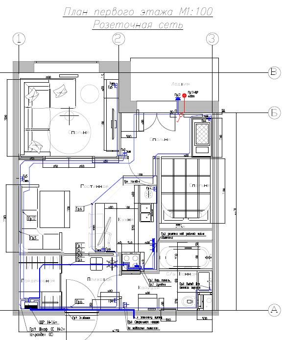 Интересные варианты планировок 2-х и 3-х комнатных